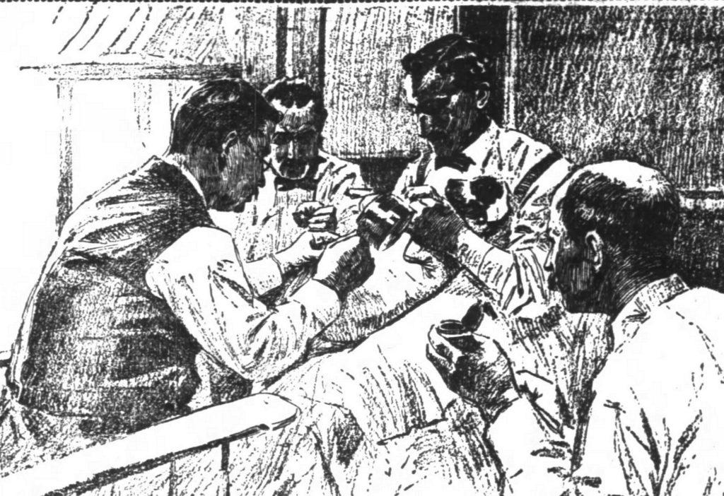 Sam O Reilly Tattooing Dogs, Chicago Tribune, Sep 11, 1898. Print.