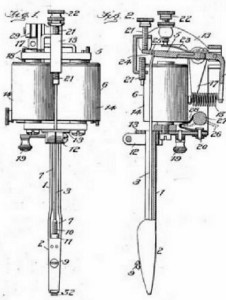 Tattooing Device. Charles Wagner, assignee. Patent 768413. 23 Aug. 1904. Print