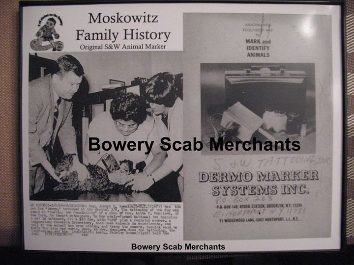 Print Series of Moskowitz Family Tattoo History