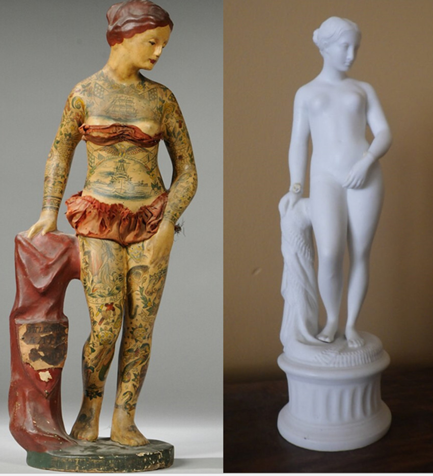 Tattooed Trade figures inspired by fine art replicas
