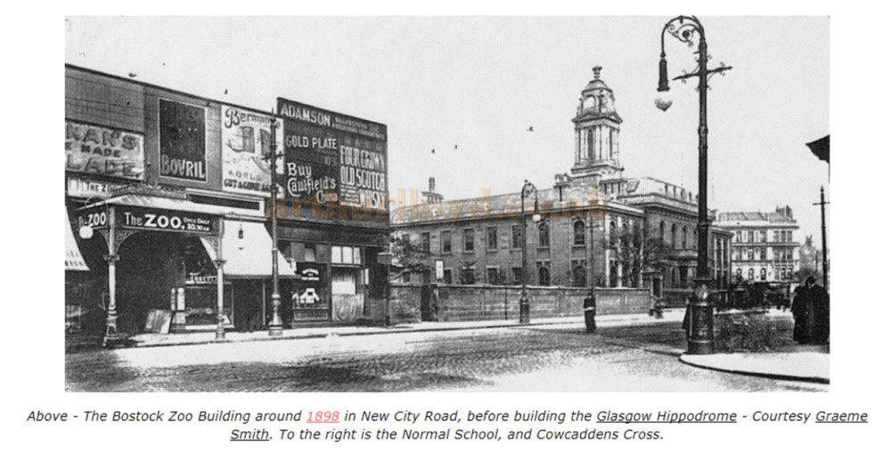 Glasgow Zoo, Tom Riley's Tattoo Shop in 1899 and 1903