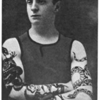Music Hall performer R.S. Harrington tattooed by Tom Riley