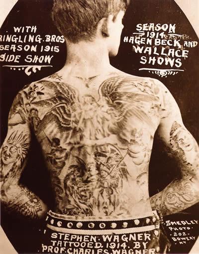 Stephen Wagner New York tattooed attraction