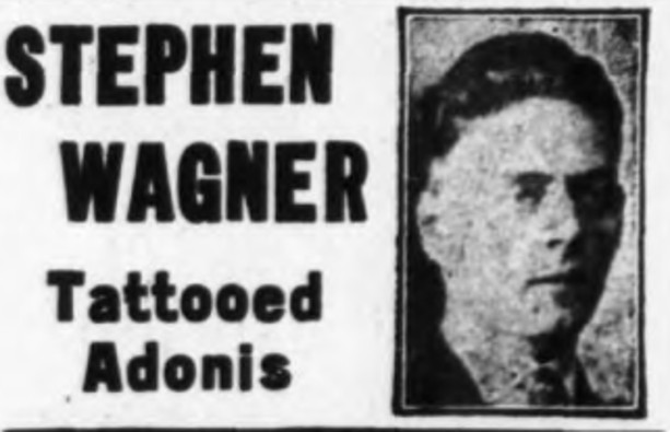 Stepegn Wagner, brother of Bowery tattooer, Charlie Wagner