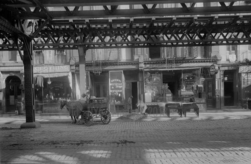 223 1/2 Bowery, Location of Charlie Wagners c. 1902-1909 tattoo shop
