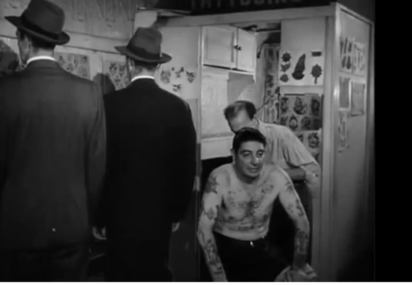Willy Moskowitz's tattoo booth made by Charlie Wagner